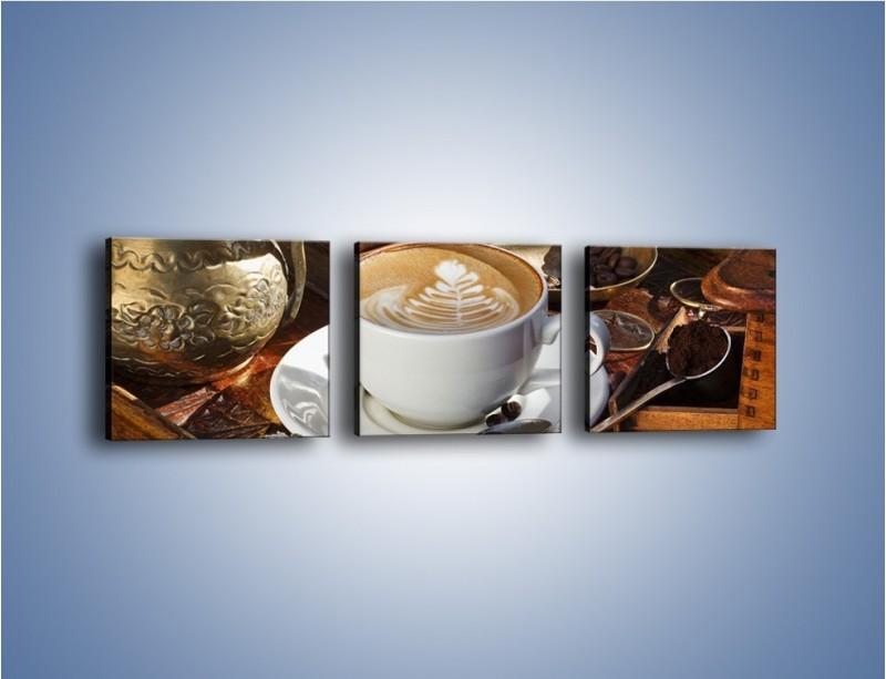 Obraz na płótnie – Wspomnienie przy kawie – trzyczęściowy JN377W1