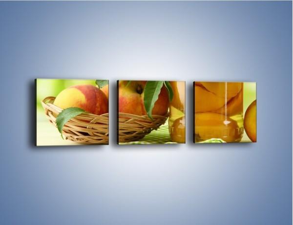 Obraz na płótnie – Jabłka w syropie – trzyczęściowy JN391W1