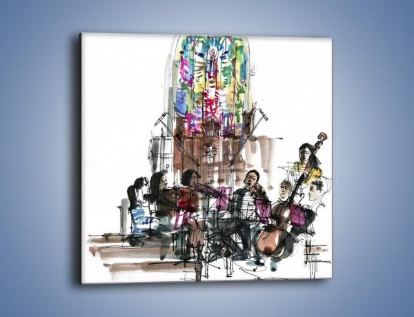 Obraz na płótnie – Koncert podczas mszy – jednoczęściowy kwadratowy GR067