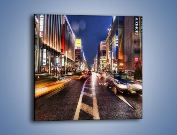 Obraz na płótnie – Tokyo w ruchu – jednoczęściowy kwadratowy AM015