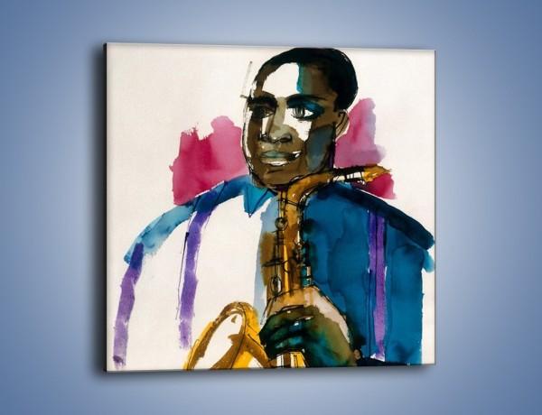 Obraz na płótnie – Solo na saksofonie – jednoczęściowy kwadratowy GR069