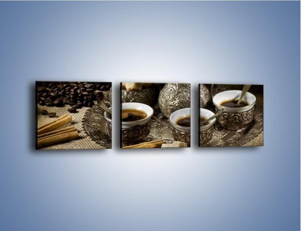 Obraz na płótnie – Tajemnicze opowieści przy kawie – trzyczęściowy JN455W1