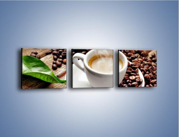 Obraz na płótnie – Letni błysk w filiżance kawy – trzyczęściowy JN470W1