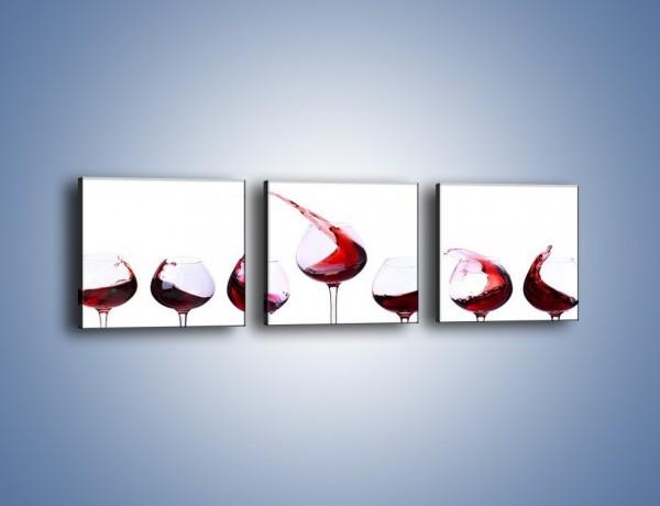 Obraz na płótnie – Taniec z czerwonym winem – trzyczęściowy JN537W1