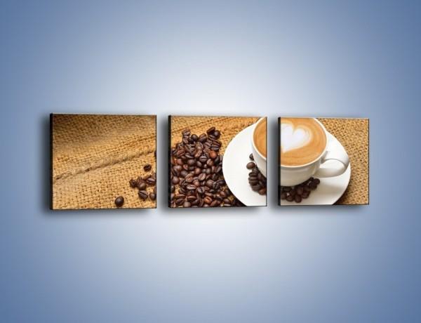 Obraz na płótnie – Uczucie wyrażone w kawie – trzyczęściowy JN547W1