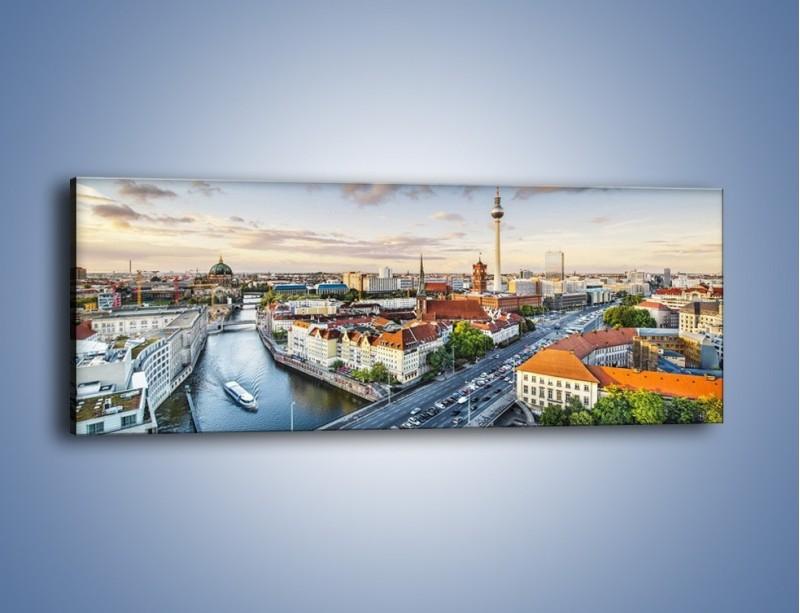 Obraz na płótnie – Panorama Berlina – jednoczęściowy panoramiczny AM673