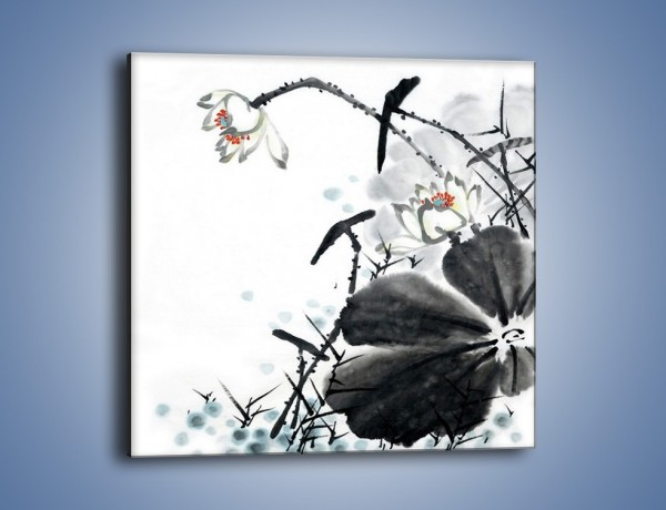 Obraz na płótnie – Kwiaty z kolorowym okiem – jednoczęściowy kwadratowy GR074