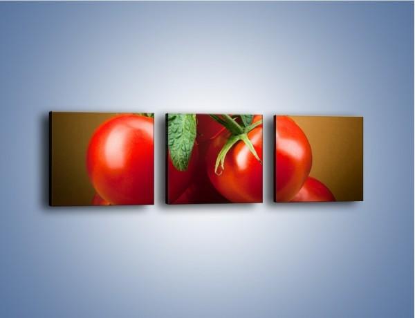Obraz na płótnie – Pomidorki górą – trzyczęściowy JN581W1