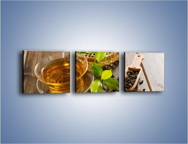 Obraz na płótnie – Herbata mięta i nie tylko – trzyczęściowy JN592W1