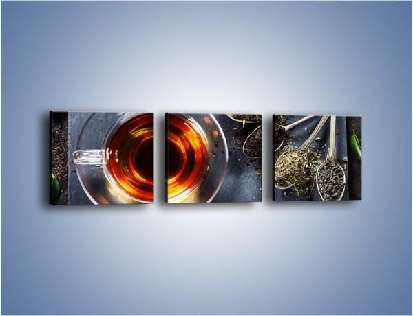 Obraz na płótnie – Herbata i inne dodatki – trzyczęściowy JN596W1