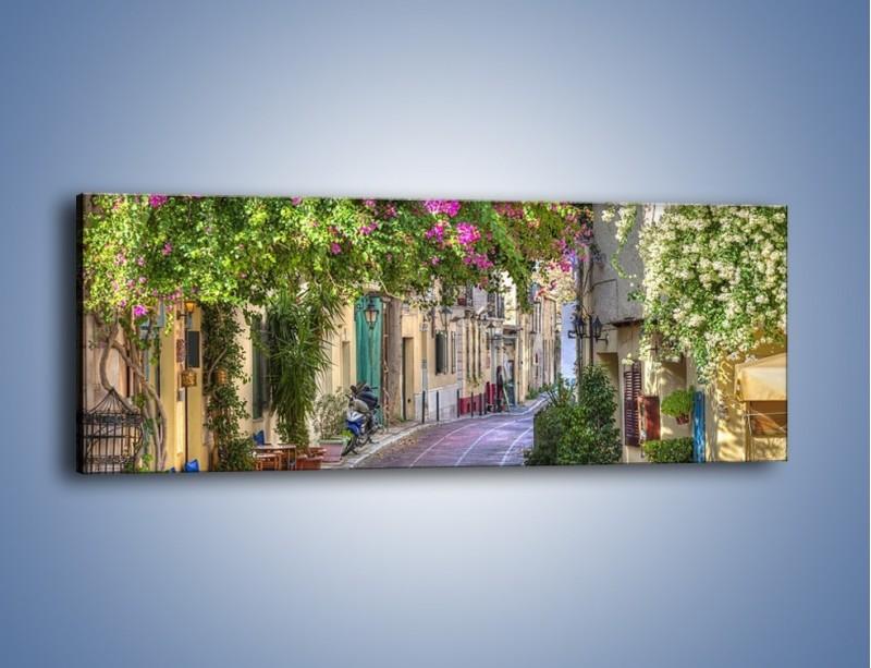 Obraz na płótnie – Uliczka w historycznej części Aten – jednoczęściowy panoramiczny AM675