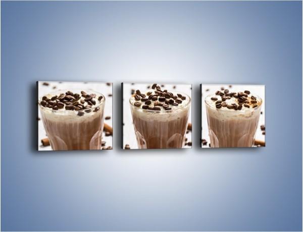 Obraz na płótnie – Mrożona kawa na upały – trzyczęściowy JN609W1