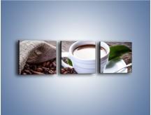 Obraz na płótnie – Dobrze odmierzona porcja kawy – trzyczęściowy JN613W1