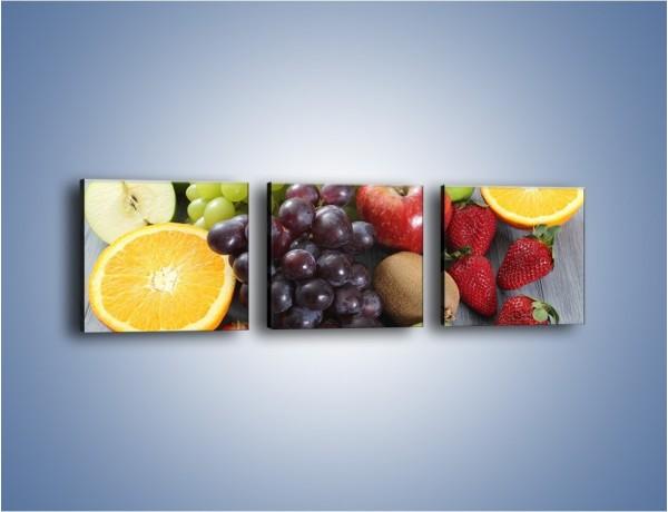 Obraz na płótnie – Idealna pora na owoce – trzyczęściowy JN631W1