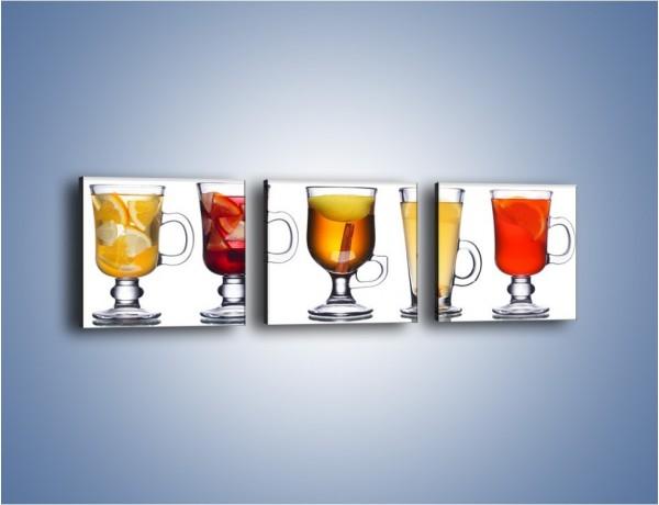 Obraz na płótnie – Kombinacje owocowych napoi – trzyczęściowy JN634W1