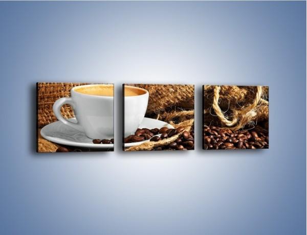 Obraz na płótnie – Upity łyk kawy – trzyczęściowy JN637W1