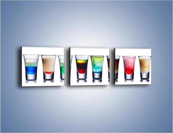 Obraz na płótnie – Shoty w kolorach tęczy – trzyczęściowy JN645W1