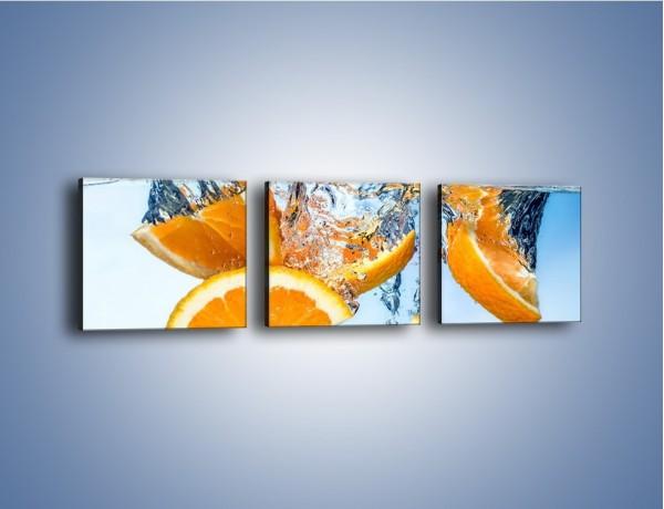 Obraz na płótnie – Pomarańcza mocno zakurzona – trzyczęściowy JN650W1