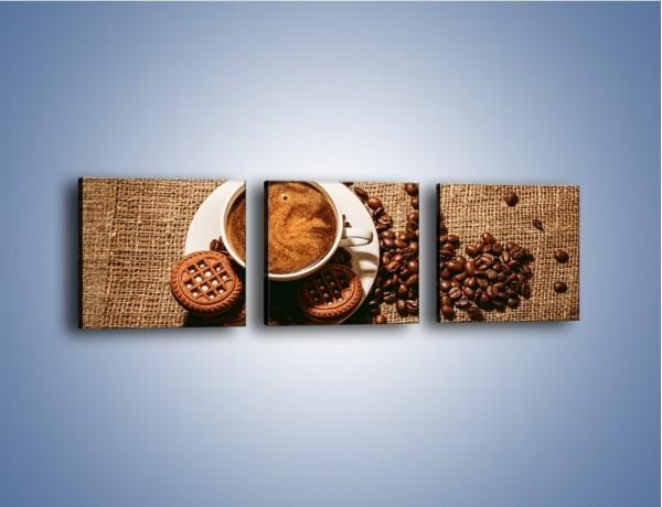 Obraz na płótnie – Kawowe słodkości na deser – trzyczęściowy JN676W1