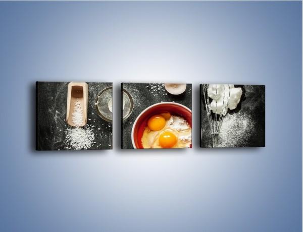 Obraz na płótnie – Jajko jako główny składnik – trzyczęściowy JN682W1