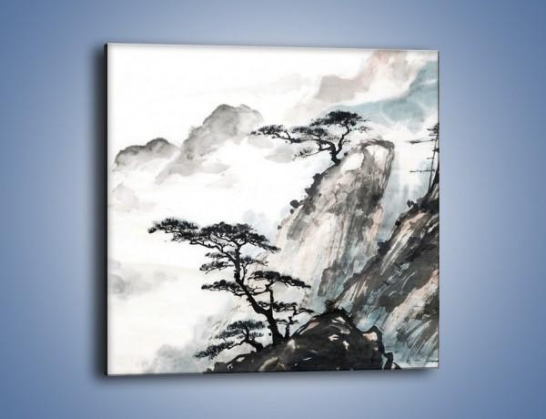 Obraz na płótnie – Wśród górskich szczytów – jednoczęściowy kwadratowy GR077