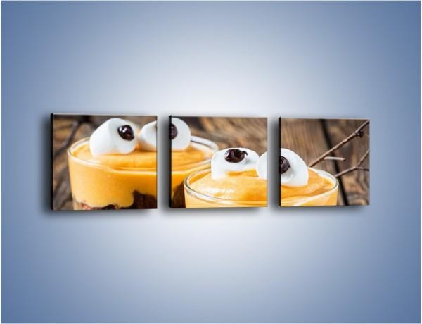 Obraz na płótnie – Słodkie potworki w szklaneczkach – trzyczęściowy JN696W1