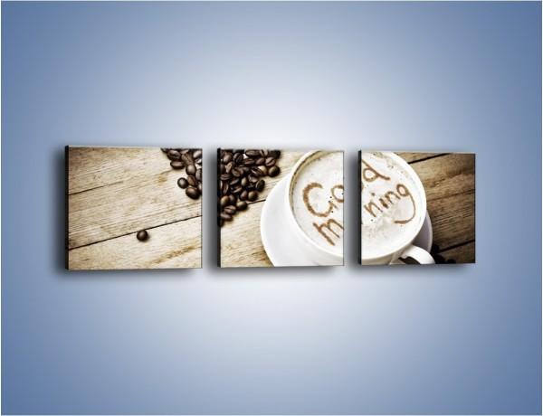Obraz na płótnie – Z miłości do kawy – trzyczęściowy JN710W1