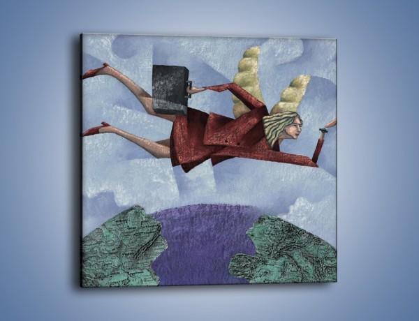Obraz na płótnie – Lotem nad kulą ziemską – jednoczęściowy kwadratowy GR082