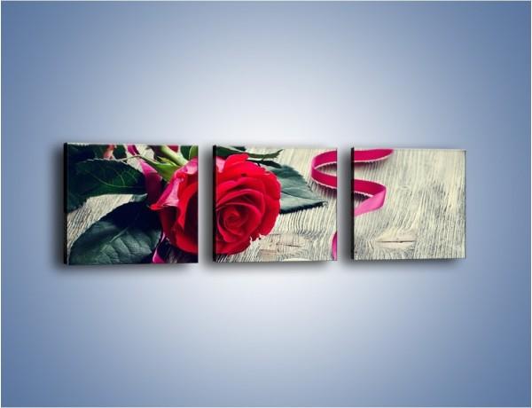 Obraz na płótnie – Od serca aż po różę – trzyczęściowy K1013W1