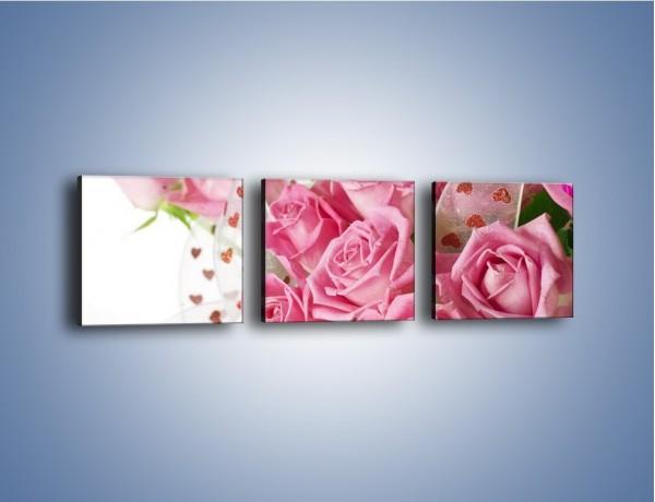 Obraz na płótnie – Wiązanka dla ukochanej – trzyczęściowy K168W1
