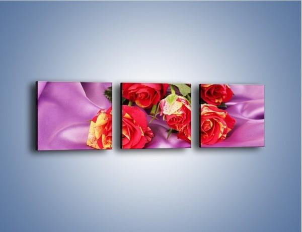 Obraz na płótnie – Błogi odpoczynek z różą – trzyczęściowy K251W1