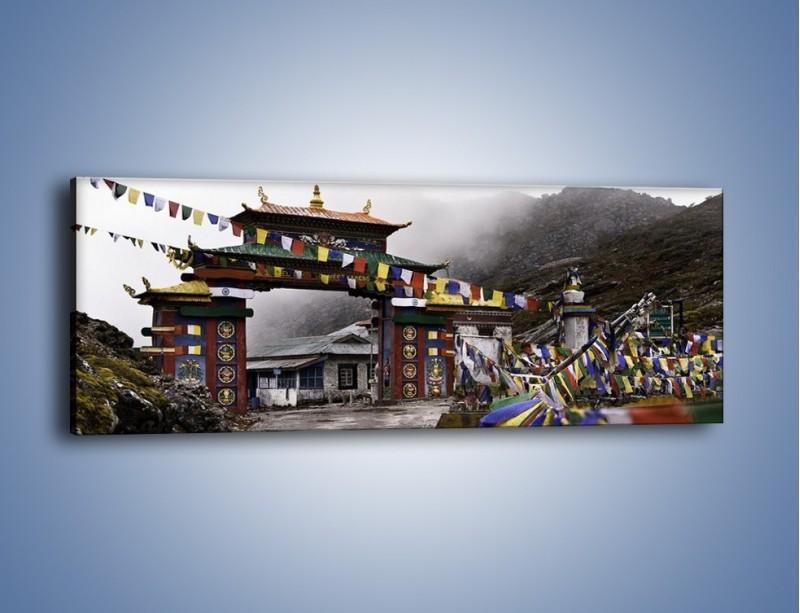 Obraz na płótnie – Brama do miasta Tawang w Tybecie – jednoczęściowy panoramiczny AM689