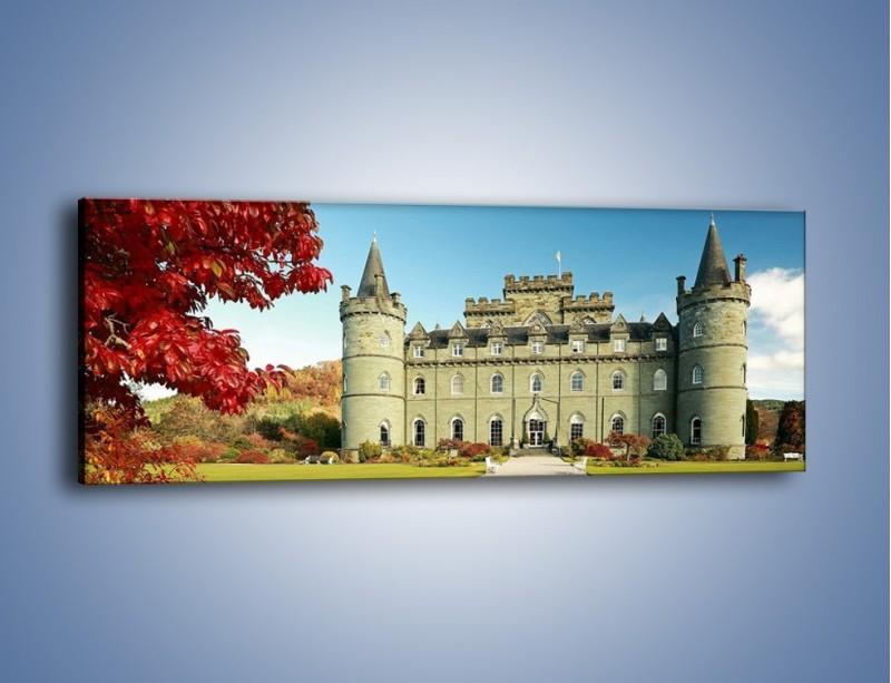 Obraz na płótnie – Zamek Inveraray w Szkocji – jednoczęściowy panoramiczny AM691