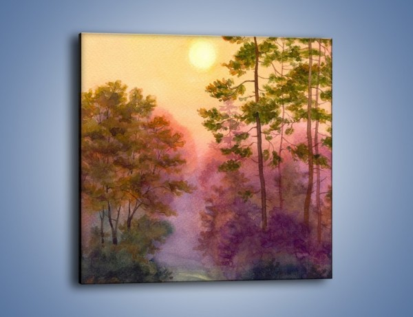 Obraz na płótnie – Las z niejedną tajemnicą – jednoczęściowy kwadratowy GR098
