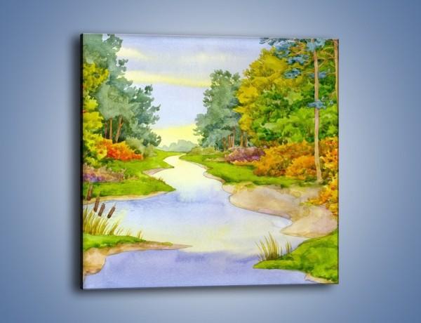 Obraz na płótnie – Las z niejedną tajemnicą – jednoczęściowy kwadratowy GR099