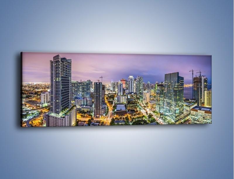 Obraz na płótnie – Centrum Miami – jednoczęściowy panoramiczny AM702