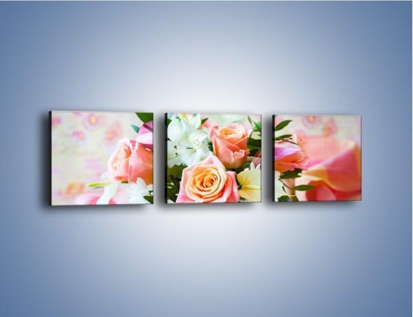 Obraz na płótnie – Kieliszek z kwiatuszkami – trzyczęściowy K948W1