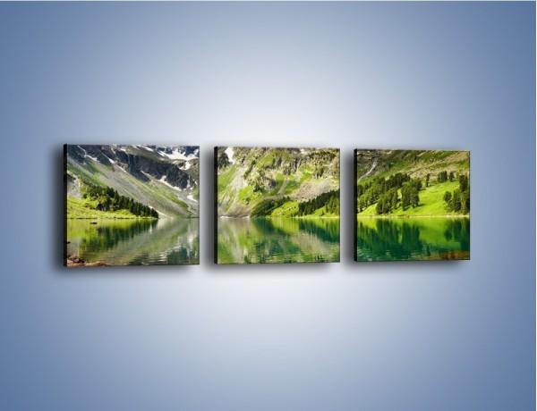 Obraz na płótnie – Góry w wodnym lustrze – trzyczęściowy KN010W1