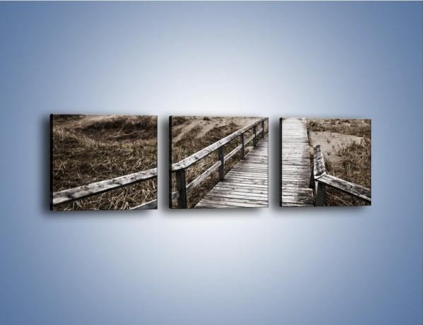Obraz na płótnie – Szary most do nieba – trzyczęściowy KN031W1