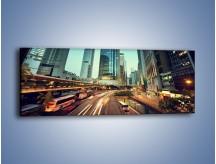 Obraz na płótnie – Ruch uliczny w Hong Kongu – jednoczęściowy panoramiczny AM709
