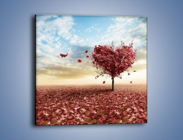 Obraz na płótnie – Serce do przyrody – jednoczęściowy kwadratowy GR114