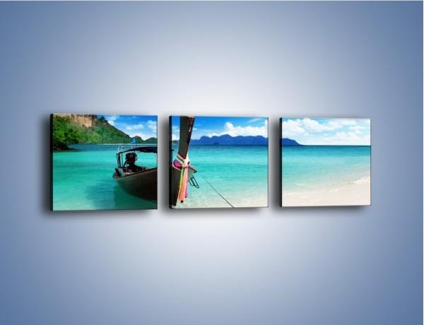 Obraz na płótnie – Wodny transport w tajlandii – trzyczęściowy KN083W1