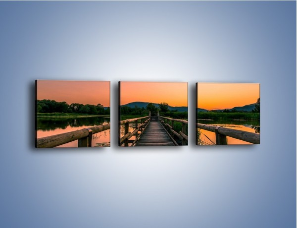 Obraz na płótnie – Pewnym krokiem na druga stronę – trzyczęściowy KN1064W1
