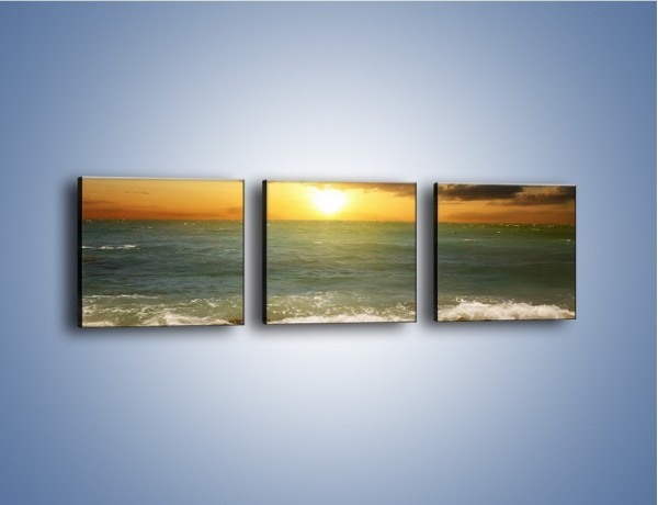 Obraz na płótnie – Brzegiem w stronę morza – trzyczęściowy KN1092AW1