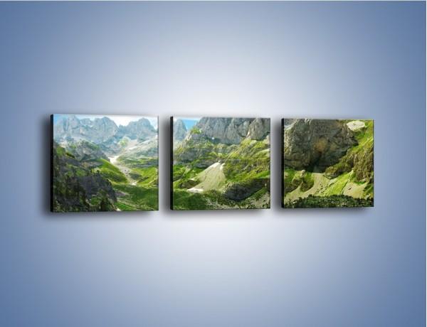 Obraz na płótnie – Górskie oczka wodne – trzyczęściowy KN1097W1