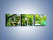 Obraz na płótnie – Cienkim strumieniem do rzeki – trzyczęściowy KN1102W1