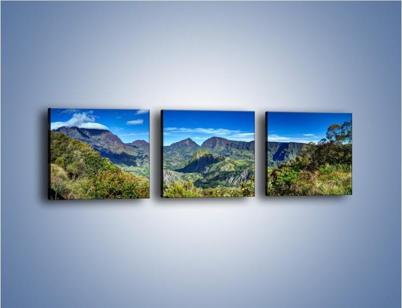 Obraz na płótnie – Zieleń ukryta wysoko w górach – trzyczęściowy KN1106W1