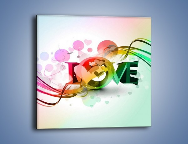 Obraz na płótnie – Przez kolor aż do miłości – jednoczęściowy kwadratowy GR124