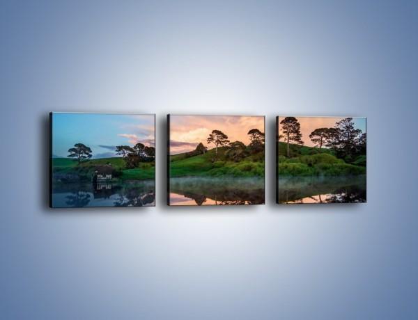 Obraz na płótnie – Wieczór wśród zieleni – trzyczęściowy KN1114AW1