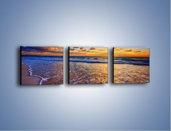 Obraz na płótnie – Piana i gładki piach – trzyczęściowy KN1123AW1